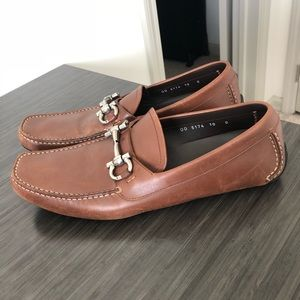 Salvatore Ferragamo Leather Loafers Size 10
